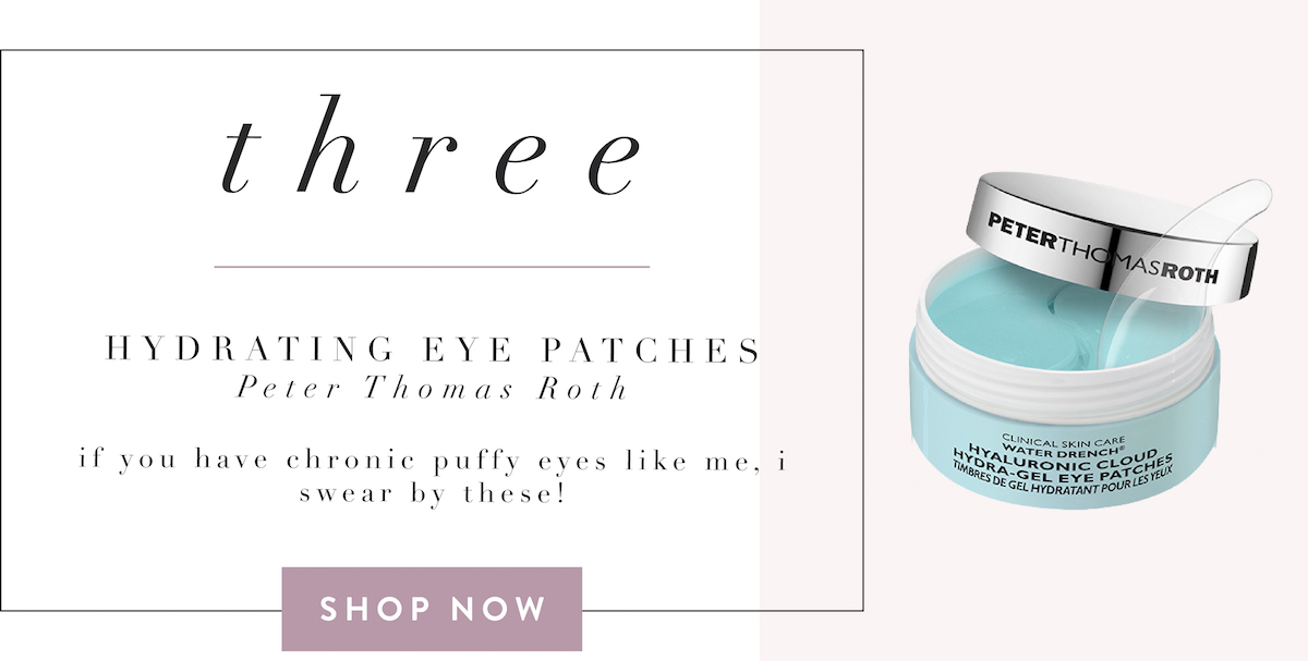 fashionaholic travel essentials - peter thomas roth eye masks