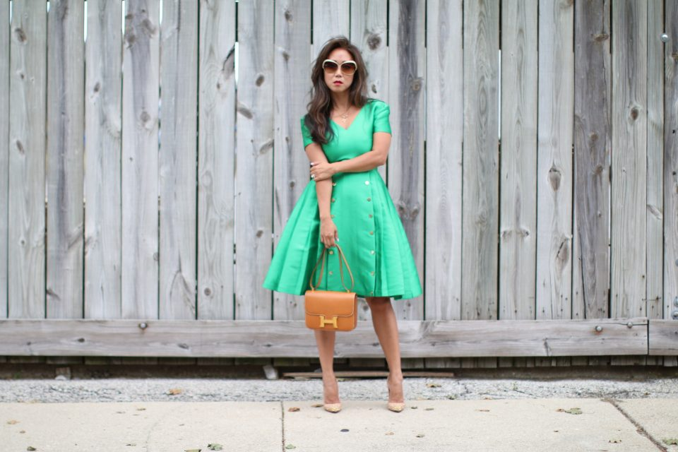 Suno Green Dress