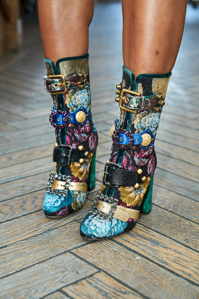 Janet Mandell of Fashionaholic wearing Dolce & Gabanna Boots