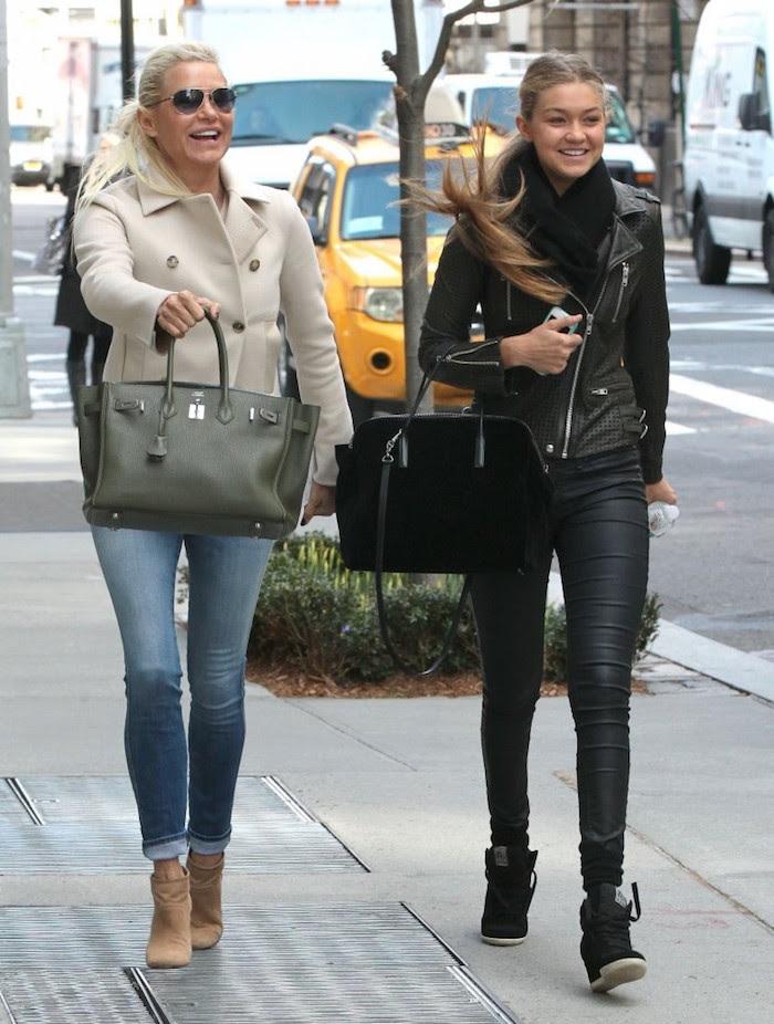 Gigi Hadid shopping