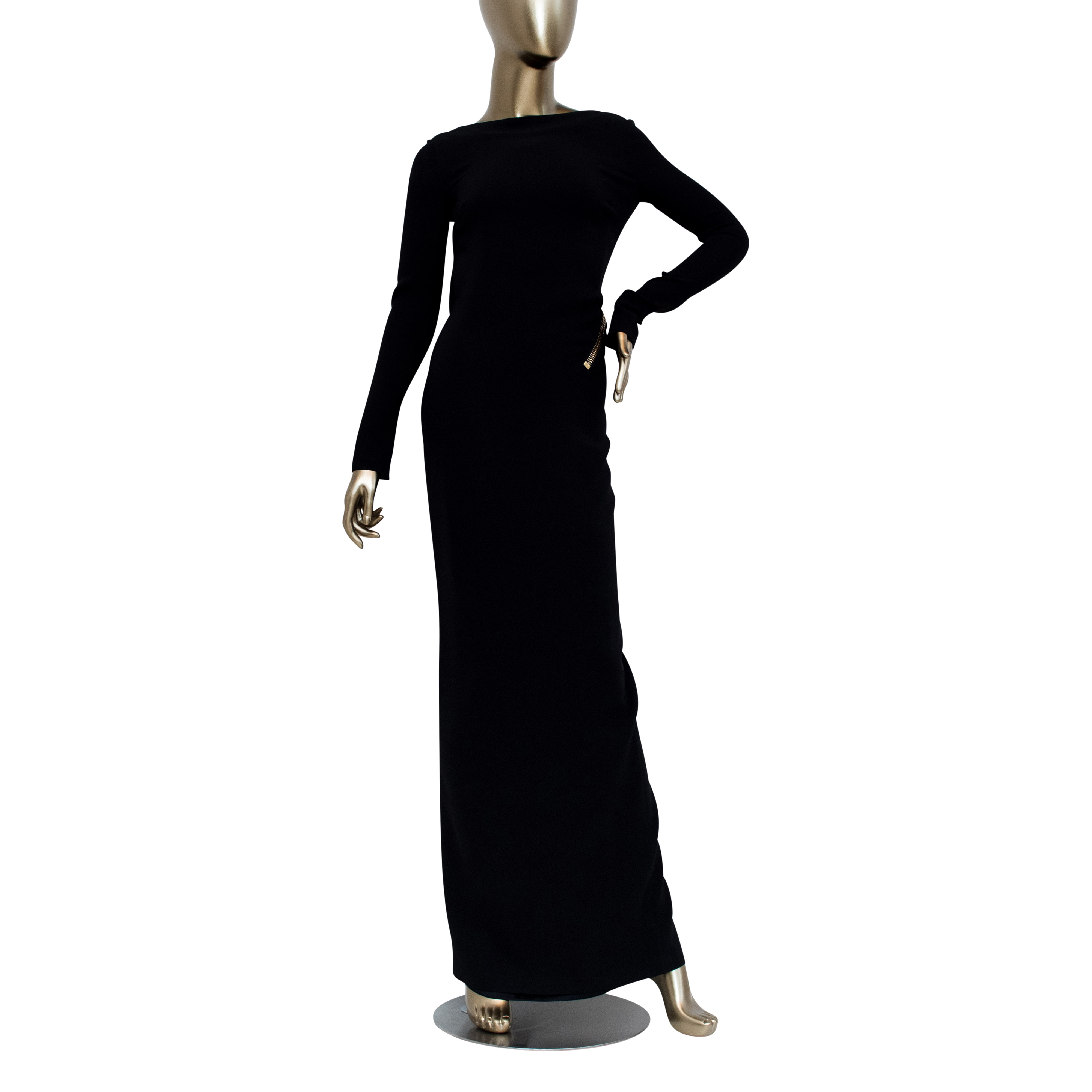 c1c208d4ac2a6 Tom Ford Zipper Trimmed Evening Gown - By:Fashionaholic